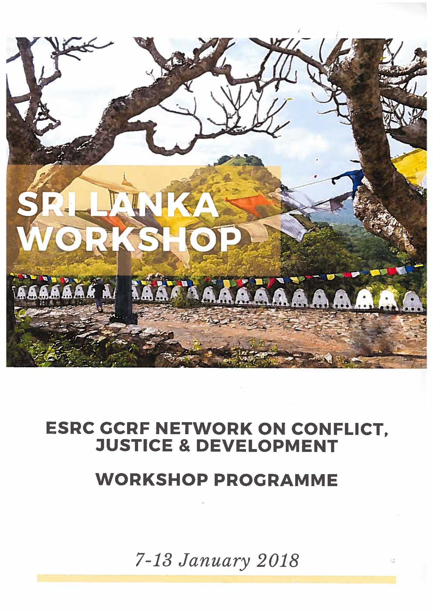 ESRC GCRF Network on Conflict, Justice, and Development, Sri Lanka